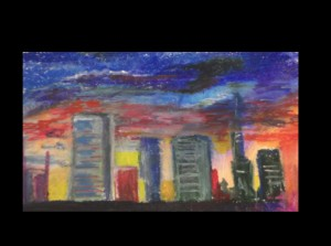 Oil Pastel City Set