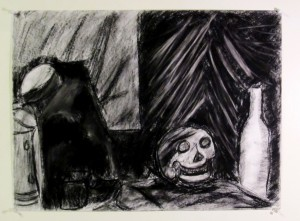 Charcoal Drawing from Still Life