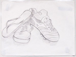 Contour of shoes